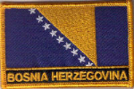 Bosnia Embroidered Flag Patch, style 09.